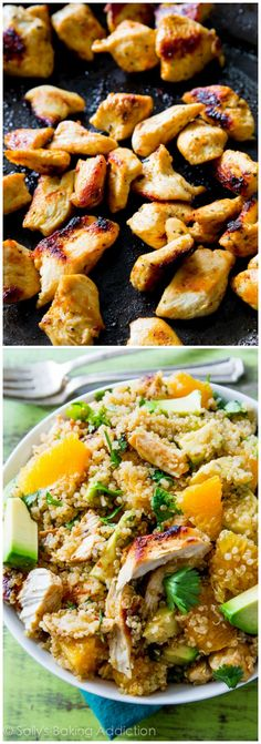 Healthy and SO good! This Citrus Chicken Quinoa Salad is nutrient packed with so much flavor!