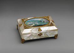Sewing Casket  --  Circa 1820-30  --  Metropolitan Museum of Art