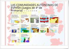 12 Juegos para el estudio de LAS COMUNIDADES AUTÓNOMAS DE ESPAÑA en 4º de Primaria