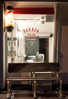 Hair Salon/Barber Shop-Front in Interior