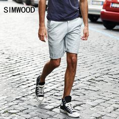 Simwood 2016 New Brand Summer Mens Shorts Casual Men's Shorts Fashion Cotton Knee Length Homme Plus Size Free Shipping KD5002