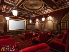 It is unbelievable to think that a movie theater this extravagant can be in a home! Atlanta, GA Coldwell Banker Residential Brokerage