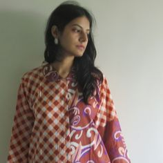 Housecoat made From JJ3 Fabric Pattern