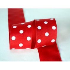 Ribbon Bazaar Grosgrain Polka Dots 3/8 inch Red 25 yards 100% Polyester Ribbon - Walmart.com