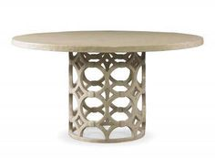 Rowan Round Dining Table in Antique Smooth White Gesso Finish Also Available in Black Painted Finish Base Dimensions 24
