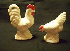 Enesco Vintage Rooster and Hen Salt and Pepper Shakers