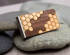 Minimalist wallet money clip card holder laser cut by ShopJoyo