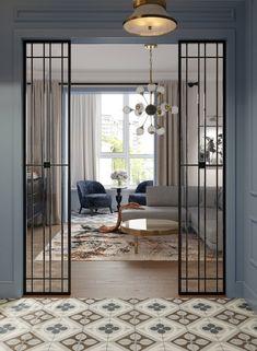 Living Room Partition Design, Room Partition Designs, Office Interior Design, Interior Design Inspiration, Home Room Design, Living Room Designs, Flur Design, Window Grill Design, Modern House Design