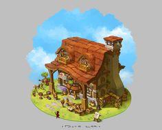 Cottage, Dune Lee on ArtStation at https://www.artstation.com/artwork/cottage-9ce08985-1004-46a5-b085-462eee5239c6