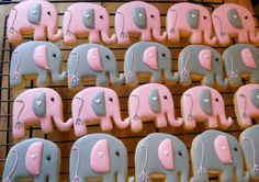 Adorable Elephant Cookies by LisasSweetThings on Etsy, $23.00
