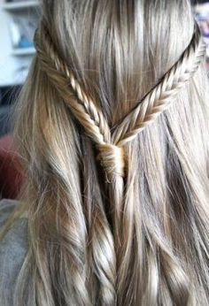 Awesome Simple Updo to School – Two Braids + Hair Worn Down