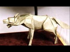 origami wolf - YouTube