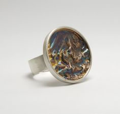 Reticulated silver ring by kalypsosilver on Etsy,