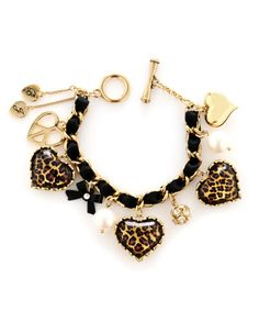 Leopard. Gold. Jewelry <3  -Betsey Johnson