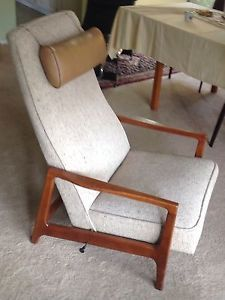 1099 kardiel eames style plywood lounge for Chaise james eames