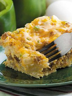 Recipe for Slow-Cooker Hashbrown Casserole - The best part about this easy and delicious Hashbrown Casserole is that the slow cooker does all the work. Add the ingredients to the pot and forget it!