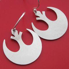 Star Wars Rebel Insignia Laser Cut Earrings. via Etsy.