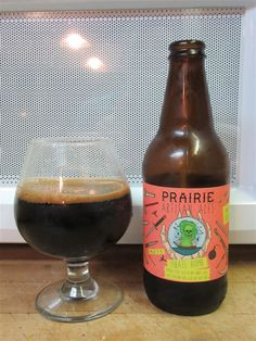 Prairie Ales Pirate Bomb - I have had several of the Prairie Artisan Ales stout series, but this was my first Pirate Bomb (rum barrel aged Russian imperial sout, 13 percent ABV). Who would have thought that a brewery in Oklahoma would be brewing world class stouts? But that's what's so great about craft beer.
