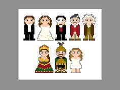 Phantom of the Opera Pixel People Character Cross Stitch PDF PATTERN ONLY
