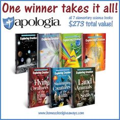 You can win ALL the books in the Apologia Young Explorer Series!