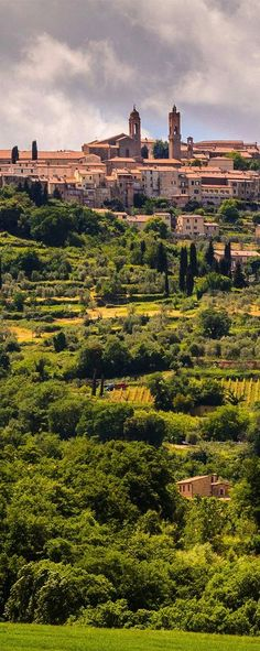 Awesome view of Montalcino, Tuscany, Italy. #europe #italy #travel