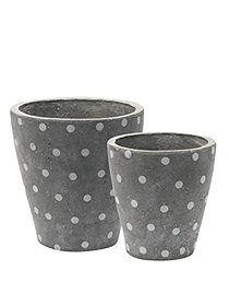 concrete flower pots #greengate