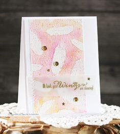 Your Wings are Showing by Laurie Schmidlin - Created using the Fine Feathers stamp set (illustrated by Claire Brennan) form Gina K Designs Feather Cards, Watercolor Cards, My Stamp, Just Giving, Pastel Colors, I Card, Thank You Cards, Grateful, Thankful