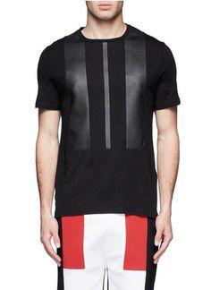 NEIL BARRETT - Modernist block T-shirt | Black Short Sleeves T-Shirts | Menswear | Lane Crawford