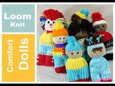 Muñecos de Estambre Tejido con Telar Redondo - Loom Knit Comfort Dolls in Spanish - YouTube