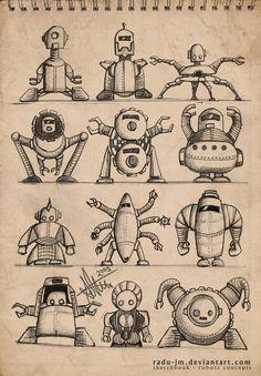ROBOTZ Concepts 4 by radu-jm by Robot-drawing-club.deviantart.com on @DeviantArt