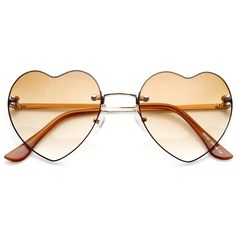 103c6cefbc Super cute colorful heart shaped that sunglasses that feature a rimless  frame.