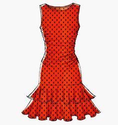 Stretch Knit Dress Pattern McCall's Pattern 7046 Close by blue510