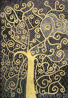 Tekenen en zo: in de stijl van beroemde kunstenaars: Gustav Klimt