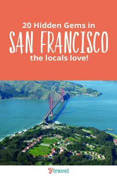 San Francisco, California Things To Do. Here are 20 hidden gems in San Francisco that the locals also love to visit. Consider adding these to your San Francisco itinerary for your California vacation once you've hit all the main attractions in the Bay Area such as the Golden Gate Bridge.  Check out awesome parks, free places to visit, amazing local food at restaurants and cafes you must try, plus hotels. #SanFrancisco #California #travel #vacation #Californiatravel #familytravel