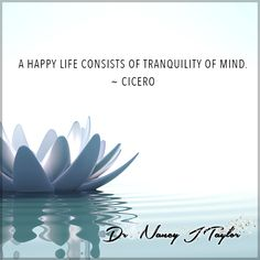 Think on positive things! Don't waste your time thinking on things that would rob you of the peace of this moment. Think on the positive things, the good things in your life right now.  #Cicero #DrNancyJTaylor #ThinkOnThePositive