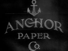 Dribbble - Anchor Paper Co. by Drew Melton