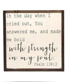 linen & lace With Strength in My Soul Wall Sign | zulily