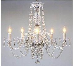 Crystal Chandelier Lighting Style French Vintage Lamp Ceiling Glass Arms Fixture