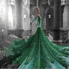 Bliss Couture: a touch of green by Ellendir Khandr MMV 2012 Miss Costa Rica, via Flickr