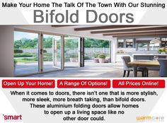 Make your property the talk of the town with some new stylish bifold doors!