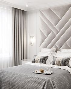 upholstered wall panels fully customised a.it amitangirad Aadishree Upholstered wall panels set, sizes from up to if you … Bed Headboard Design, Modern Bedroom Design, Master Bedroom Design, Headboards For Beds, Hotel Bedroom Design, Master Bedroom Interior, Home Interior, Home Decor Bedroom, Interior Design