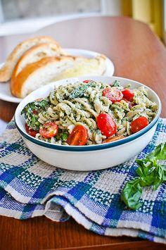 Basil, Walnut & Kale Pesto by Clean Green Simple.