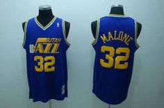 dcbbd5fb0 Mitchell and Ness Jazz Karl Malone Embroidered Blue Throwback NBA Jersey