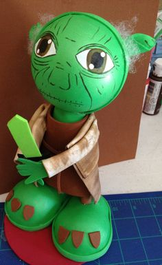 Star Wars Yoda Fofuchas Style by maribelgalvan on Etsy, $18.00