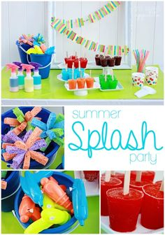 Cute idea - get buckets from the dollar store for the water balloons...spray bottles too instead of more water guns