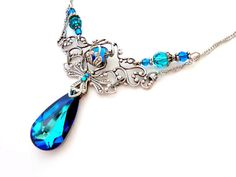 Hey, I found this really awesome Etsy listing at http://www.etsy.com/listing/126842493/peacock-bermuda-blue-victorian-style $45
