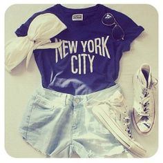 new york, t-shirt, vintage, pretty, tumblr, lovely, clothes, all stars, fashion, short, girly, outfit