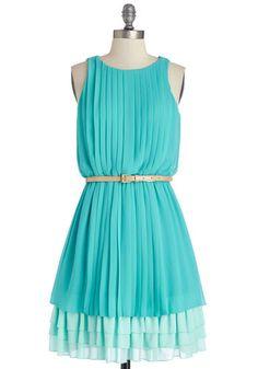 Amy to Please Dress in Aqua | Mod Retro Vintage Dresses | ModCloth.com