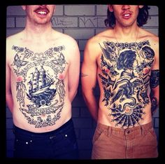Great chest tattoos by...