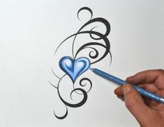Tribal Heart Tattoo - Bing Images More trendytattoos Heart Tattoo Images, Tribal Heart Tattoos, Little Heart Tattoos, Heart Tattoo Designs, Tribal Tattoo Designs, Henna Designs, Trendy Tattoos, Small Tattoos, Tattoos For Women